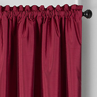 """Home accents Colette Faux Silk Blackout Window Curtain Panel, Red, 52"""" x 84"""", Red, large"""