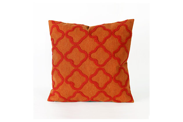 Home Accents Indoor-Outdoor Pillow by Ashley HomeStore, Orange