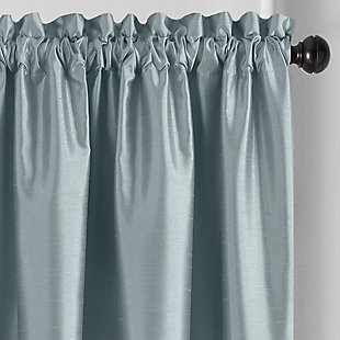 "Home accents Colette Faux Silk Blackout Window Curtain Panel, Mineral, 52"" x 84"", Mineral, large"