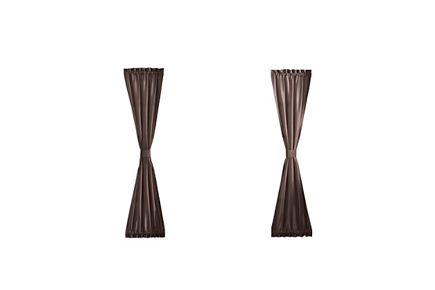 "Home accents Colette Faux Silk Side Door Window Panel, Chocolate, 28"" x 72"", Chocolate, large"