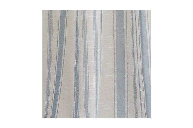 "Home accents Hampton Stripe Sheer Window Curtain Panel, Blue, 52"" x 84"", Blue, large"