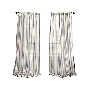 "Home accents Hampton Stripe Sheer Window Curtain Panel, Gray, 52"" x 84"", Gray, rollover"