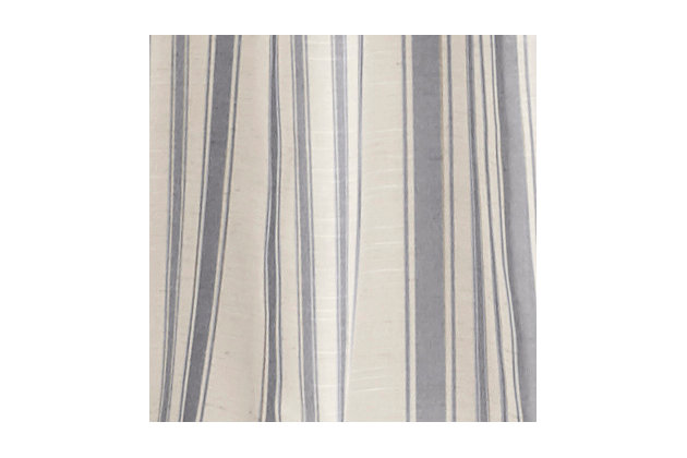 "Home accents Hampton Stripe Sheer Window Curtain Panel, Gray, 52"" x 84"", Gray, large"