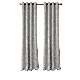 "Home accents Julianne Window Curtain Panel, Gray, 52""x84"", Gray, rollover"