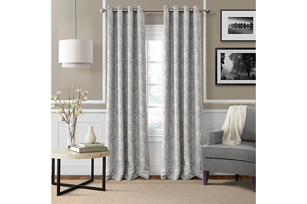 "Home accents Julianne Window Curtain Panel, Gray, 52""x84"", Gray, large"