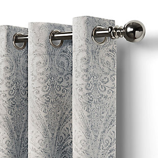 """Home accents Julianne Window Curtain Panel, Gray, 52""""x84"""", Gray, large"""