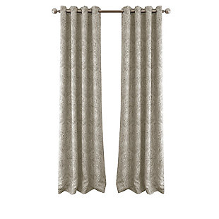 "Home accents Julianne Window Curtain Panel, Natural, 52""x84"", Natural, large"