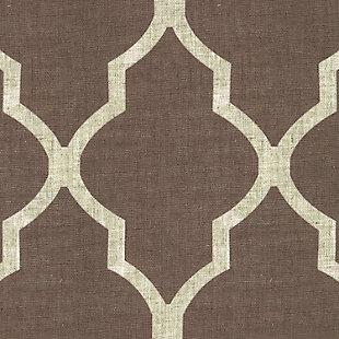 "Home accents Medalia Room Darkening Geometric Window Curtain, Mocha, 52""x84"", Mocha, large"