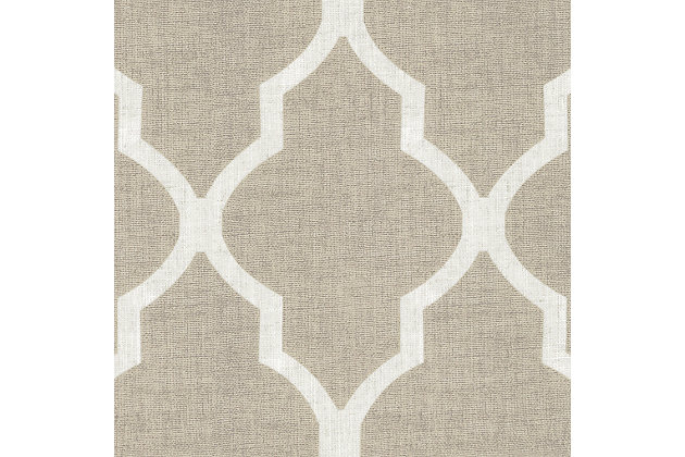 "Home accents Medalia Room Darkening Geometric Window Curtain, Linen, 52""x84"", Linen, large"