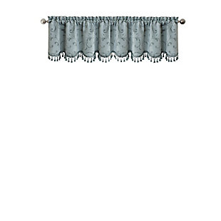 """Home accents Mia Beaded Scallop Window Valance, Blue, 52"""" x 19"""", Blue, rollover"""