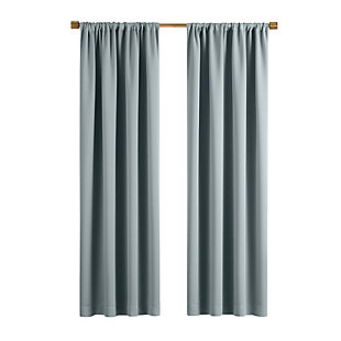 "Home Accents Vanderbilt Extra Wide Blackout Window Curtain Panel, River Blue, 52"" x 84"", River Blue, rollover"