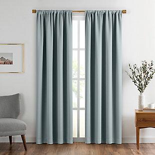 "Home Accents Vanderbilt Extra Wide Blackout Window Curtain Panel, River Blue, 52"" x 84"", River Blue, large"