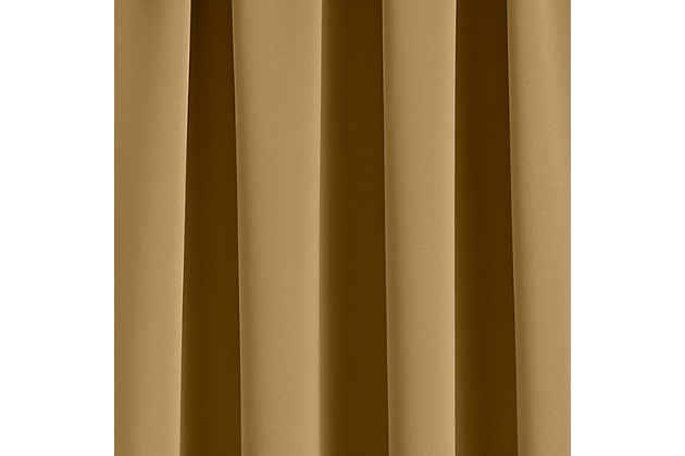 "Home Accents Vanderbilt Extra Wide Blackout Window Curtain Panel, Gold, 52"" x 108"", Gold, large"