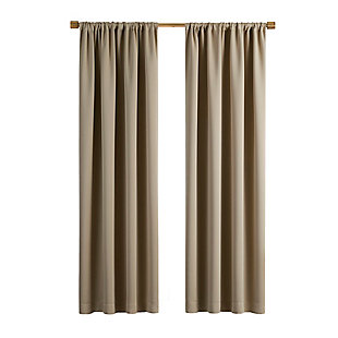 """Home Accents Vanderbilt Extra Wide Blackout Window Curtain Panel, Natural, 52"""" x 84"""", Natural, large"""