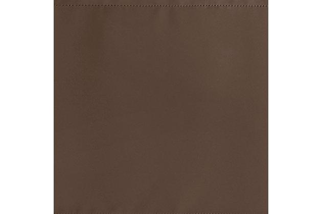 "Home Accents Vanderbilt Straight Pleated Window Valance, Chocolate, 50"" x 18"", Chocolate, large"