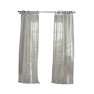"Home Accents Vienna Tie-Top Sheer Window Curtain Panel, Dusty Blue, 52"" x 84"", Dusty Blue, rollover"