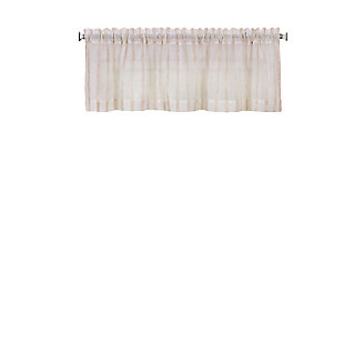 "Home Accents Linen Stripe Rod Pocket Window Kitchen Valance, Linen, 60"" x 15"", , rollover"