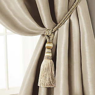"Home Accents Amelia Decorative Tassel Window Curtain Tieback, Ivory, 24"", Ivory, large"