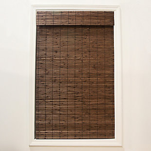 Radiance Radiance Cordless Bamboo Dockside Privacy Weave Roman Shade - Cocoa, Cocoa, rollover