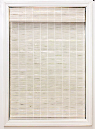 Radiance Radiance Cordless Bayshore Matchstick Roman Shade - White 36x64, White, rollover