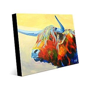 Yansa Alpha 24 x 36 Acrylic Wall Art, Yellow, rollover