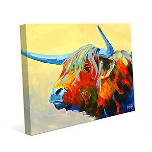 Yansa Alpha 24 x 36 Canvas Wall Art, Yellow, rollover
