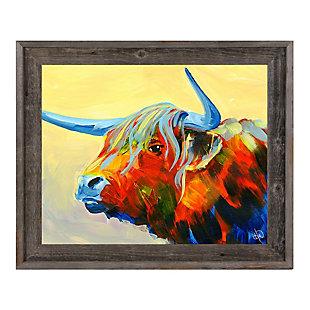 Yansa Alpha 24 x 36 Barnwood Framed Canvas, Yellow, large