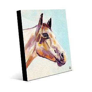 Ralph The Horse Alpha 24 x 36 Acrylic Wall Art, Blue, large