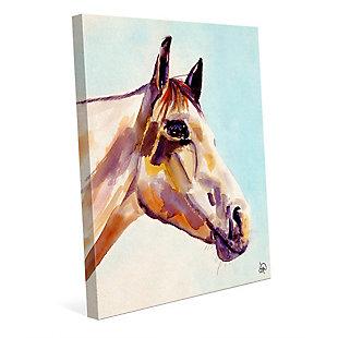 Ralph The Horse Alpha 24 x 36 Canvas Wall Art, Blue, large