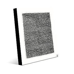 Pegboard Black on White 24 x 36 Acrylic Wall Art, Gray, large