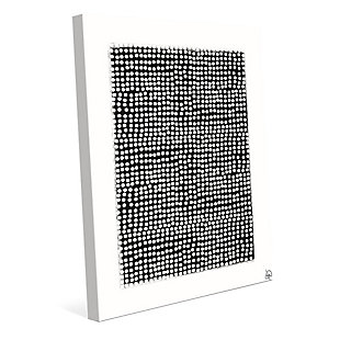 Pegboard Black on White 24 x 36 Canvas Wall Art, Gray, large