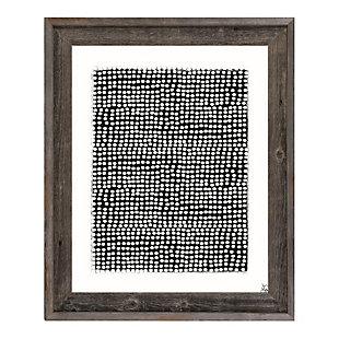 Pegboard Black on White 24 x 36 Barnwood Framed Canvas, Gray, large