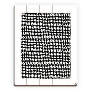 Pegboard Black on White 20 x 24 Wood Plank Wall Art, Gray, large