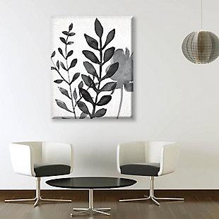 Plant Shadows 24 x 36 Canvas Wall Art, Gray, rollover