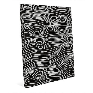 Wavelines White on Black 16 x 20 Canvas Wall Art, , large
