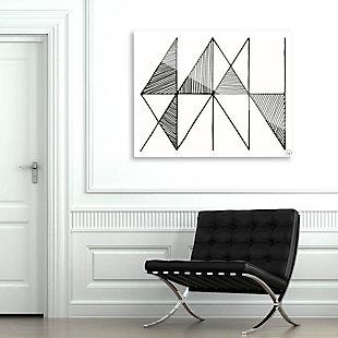 Crosshatch Horizontal Black on White 24 x 36 Acrylic Wall Art, Gray, rollover