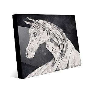 Horse Profile Base Left 24 x 36 Acrylic Wall Art, Black, large
