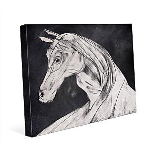 Horse Profile Base Left 24 x 36 Canvas Wall Art, , large