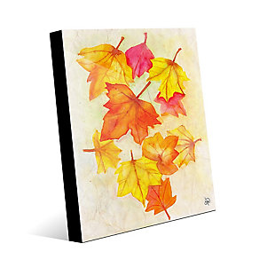Foglie d'Autunno Paper 24 x 36 Acrylic Wall Art, Red/Yellow/Orange, large