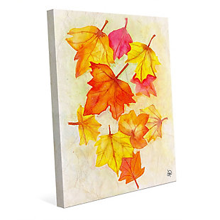 Foglie D'autunno Paper 24 X 36 Canvas Wall Art, Red/Yellow/Orange, large