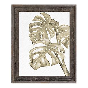 Verdi Foglie Sepia 24 x 36 Barnwood Framed Canvas, Beige/White, large