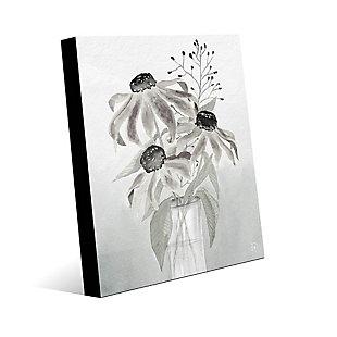 Corrine Mono 24 x 36 Acrylic Wall Art, Black/Gray/White, large