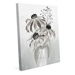 Corrine Mono 24 x 36 Canvas Wall Art, Black/Gray/White, large