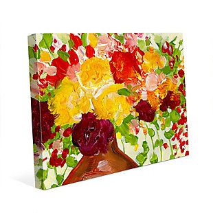 Color of Joy Zoom 24 x 36 Canvas Wall Art, Red/Yellow/Green, rollover