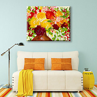 Color of Joy Zoom 24 x 36 Canvas Wall Art, Red/Yellow/Green, large