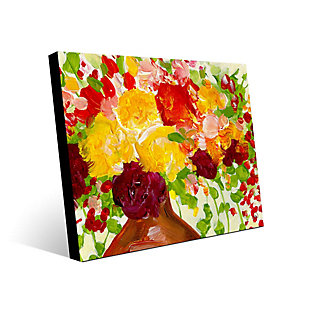 Color of Joy Zoom 24 x 36 Metal Wall Art, Red/Yellow/Green, large