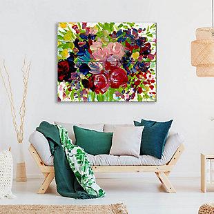 Shalia Close 20 x 24 Wood Plank Wall Art, Red/Blue/Green, large