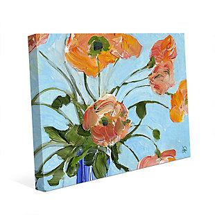 Anais Close Up 24 X 36 Canvas Wall Art, Orange/Blue, rollover