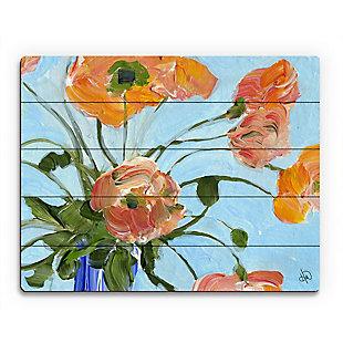 Anais Close Up 20 x 24 Wood Plank Wall Art, Orange/Blue, rollover