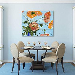 Anais Close Up 20 x 24 Wood Plank Wall Art, Orange/Blue, large
